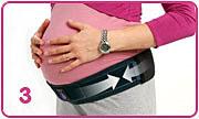 applicazione fascia per gravidanza serola 3
