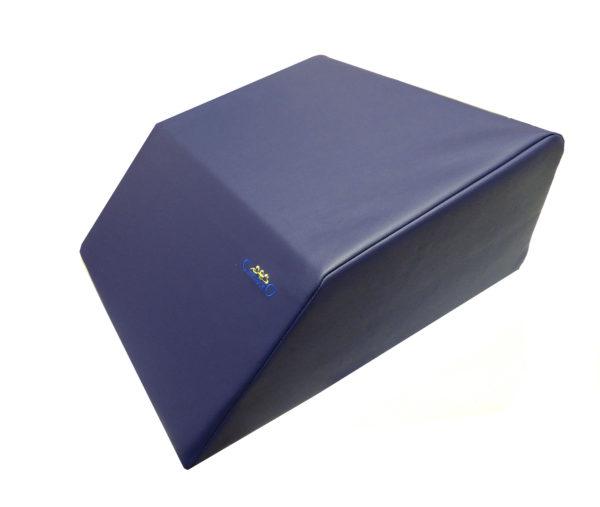 cuscino elevatore blu similpelle