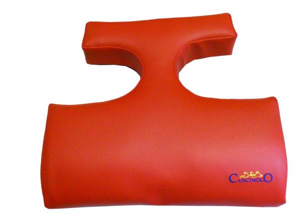 Cuscino salvaseno rosso similpelle